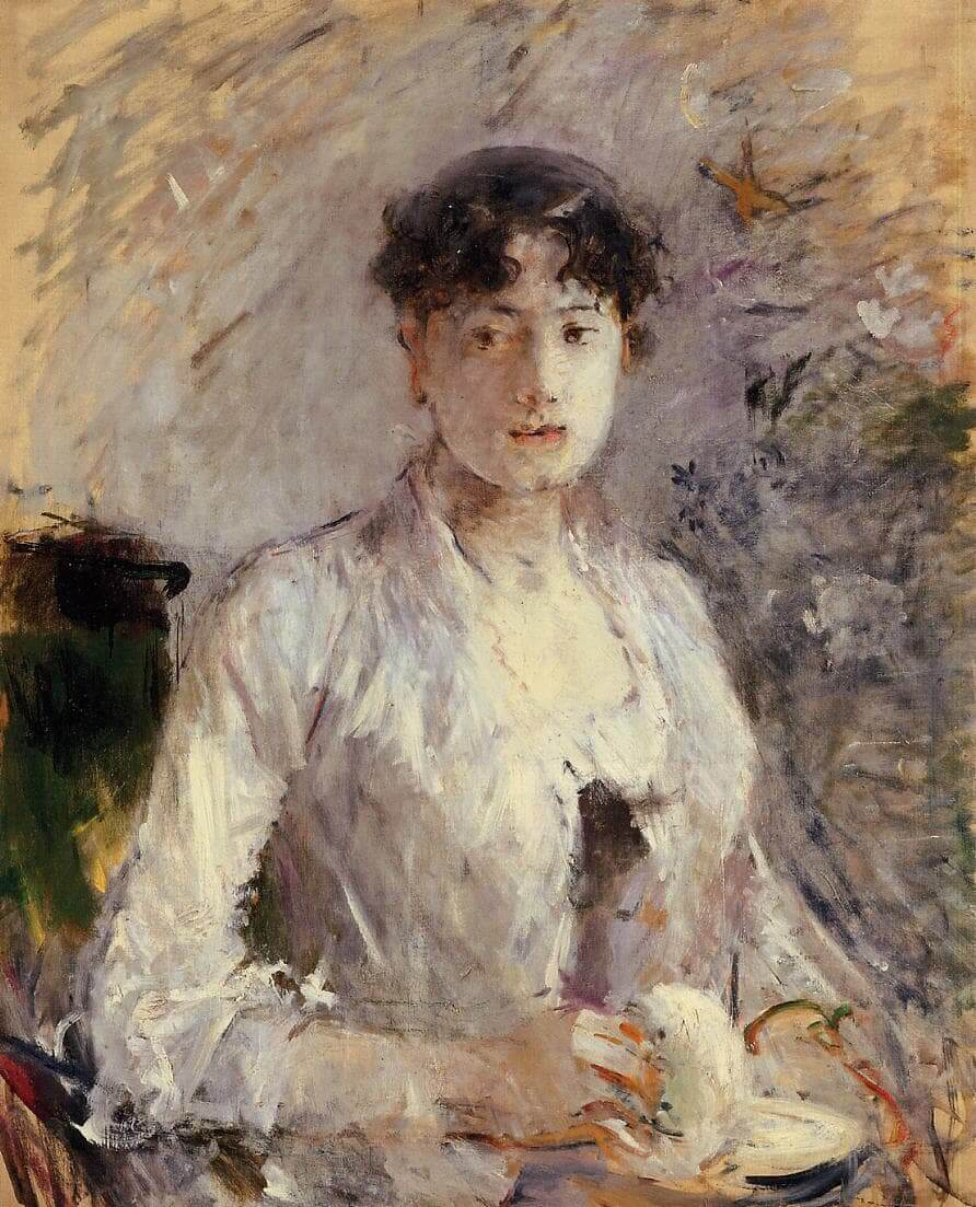 """Young Woman in Mauve"" by Berthe Morisot"